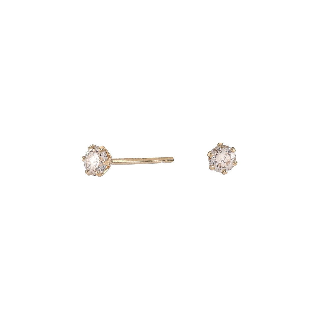 Diamond Ear Studs, 0.100 ct, Gold