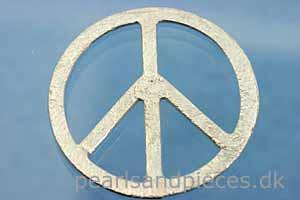 Peacetegn, børstet, ca. 20 mm, 925s, 1 stk