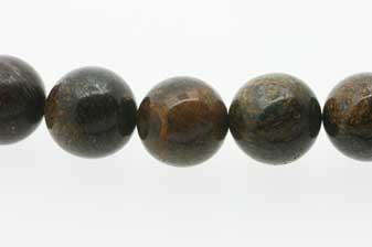 Bronzit, rund, 14 mm, 1 streng