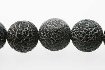 Black Weathering, blank, rund, 20 mm, 1 streng
