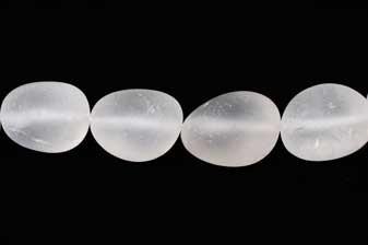 Bjergkrystal, nugget, mat,  ca. 13x18x15-20 mm, 1 streng