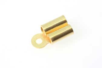 Endestykke t/2 snore, 11x6 mm, FG 925s, 2 stk.