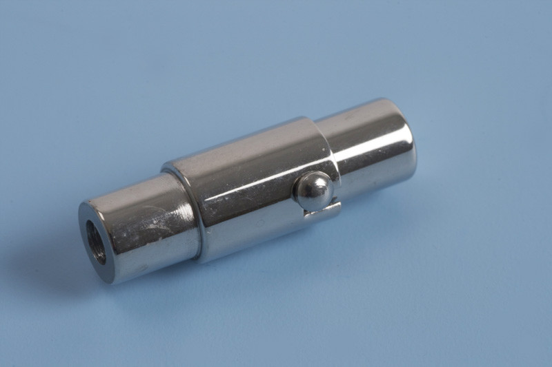 Bajonetlås, 18x4,5 mm, indv. 2 mm, rustfrit stål, 1 stk.