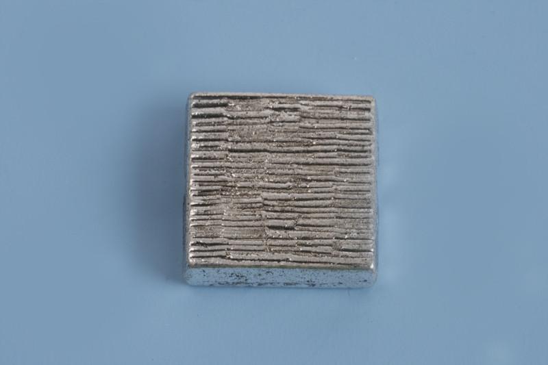 Firkantet perle, 12x5 mm, antiksølv, 1 stk.