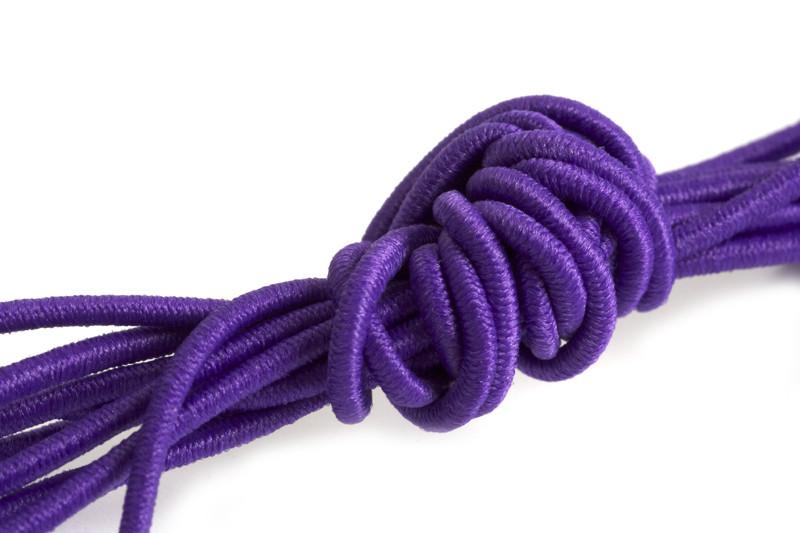 Elastiktråd, lilla, 1 mm, 3 meter