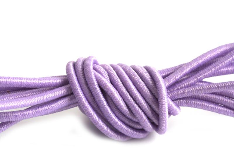 Elastiktråd, lavendel, 1 mm, 3 meter
