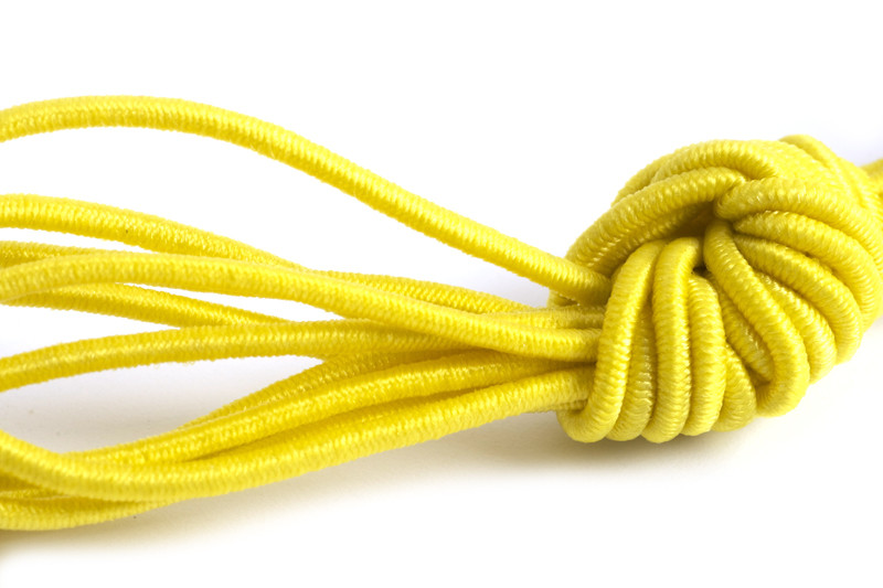 Elastiktråd, gul, 1 mm, 3 meter