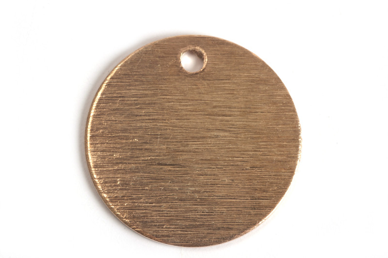 Mønt, børstet, topboret, 18 mm, RG 2 stk.