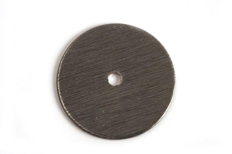 Mønt, børstet, midterboret, 18 mm, BP, 2 stk.
