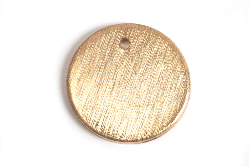 Mønt, børstet, topboret, 14 mm, RG, 2 stk.