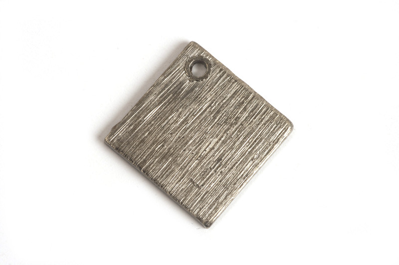 Kvadrat, børstet, ca. 10 mm, BP, 2 stk.