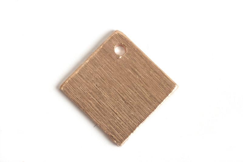 Kvadrat, børstet, ca. 10 mm, RG, 2 stk.