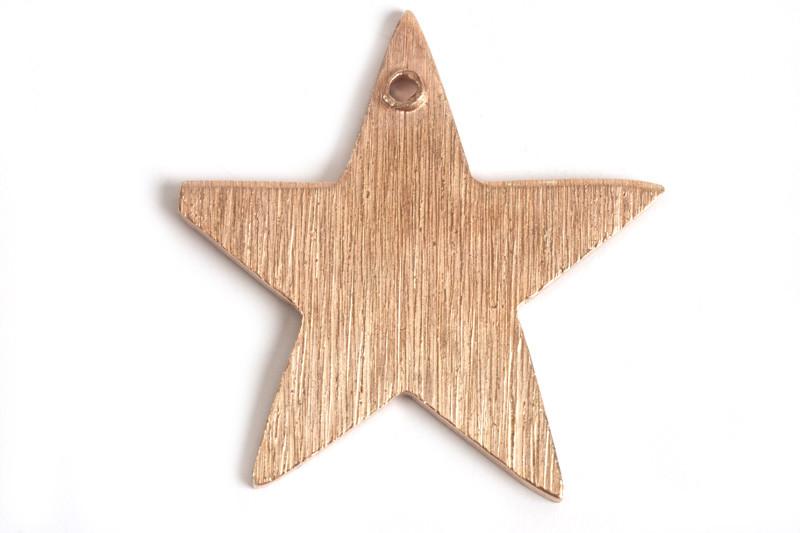 Stjerne, børstet, topboret, 20 mm, RG, 2 stk.
