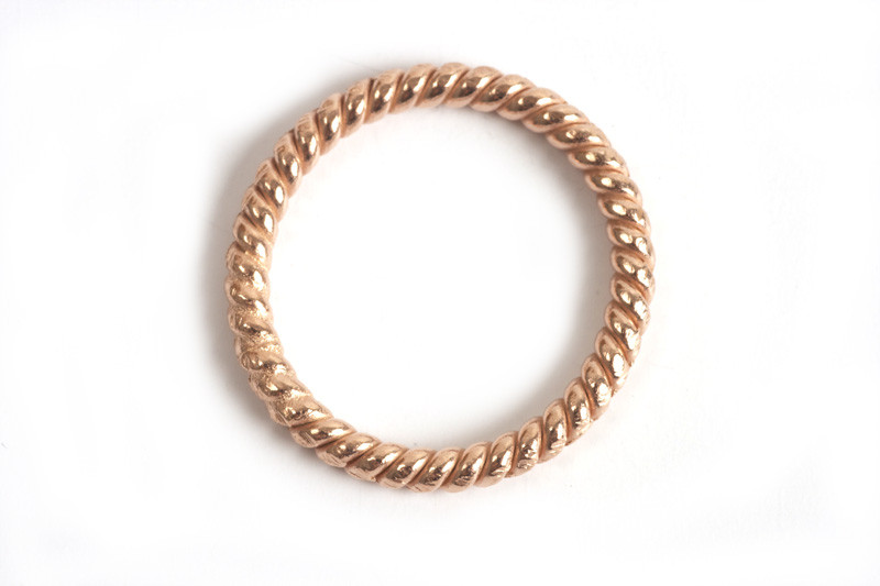 Snoet ring, 1,4 mm, indv. ca. 13 mm, RG, 2 stk.