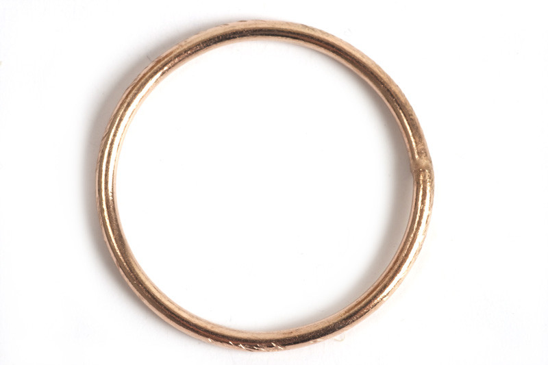 Børstet ring, 1,2 mm, indv. ca. 17 mm, RG, 2 stk.