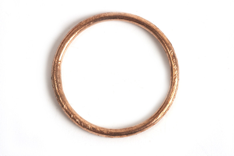 Børstet ring, 1,2 mm, indv. ca. 14 mm, RG, 2 stk.