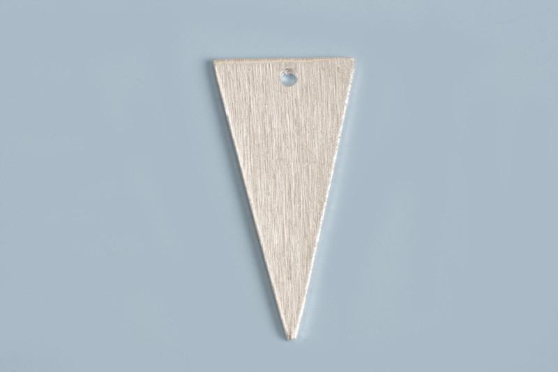 Lang trekant, børstet, 20x10 mm, FS, 2 stk.