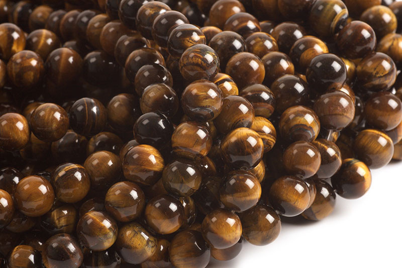 Tiger Eye, rund, 10 mm, 1 streng