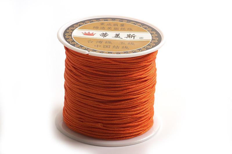 Polyestersnøre, 0,8 mm, orange, ca. 35 meter