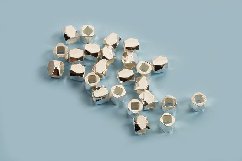 Perle, facet, 3x3 mm, FS, 25 stk.