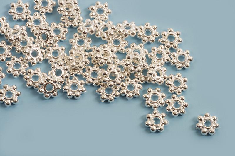 Mellemled, blomst, 4x4x1,5 mm, FS, 100 stk.