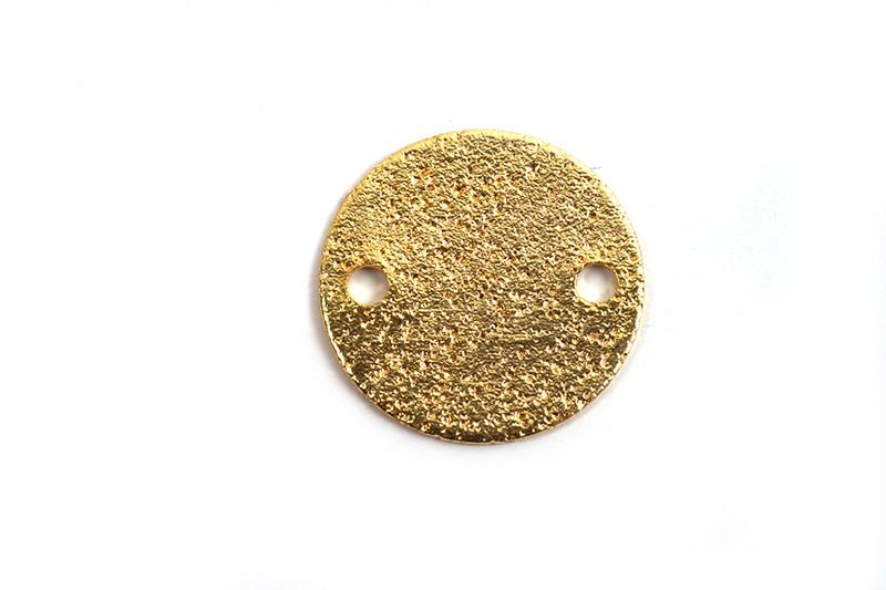 Mønt m/2 huller, børstet, 12x1 mm, FG, 2 stk.