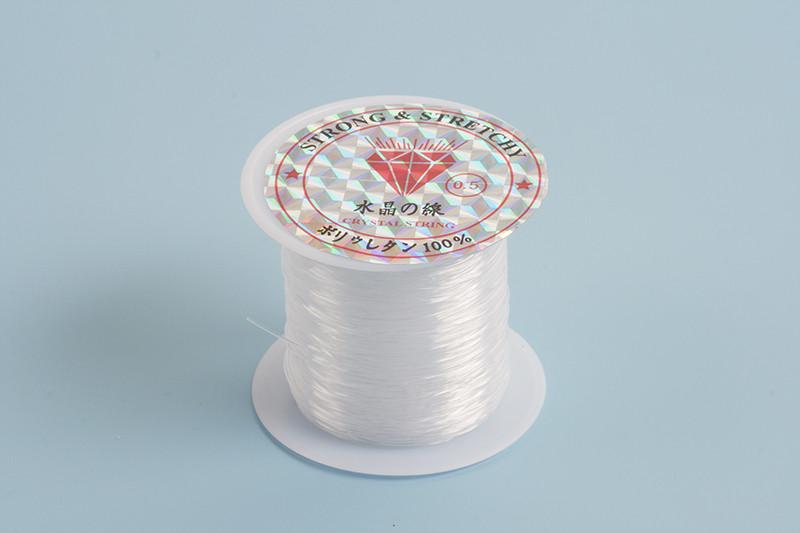 Nylon snøre, 0,5 mm, klar, ca. 25 m