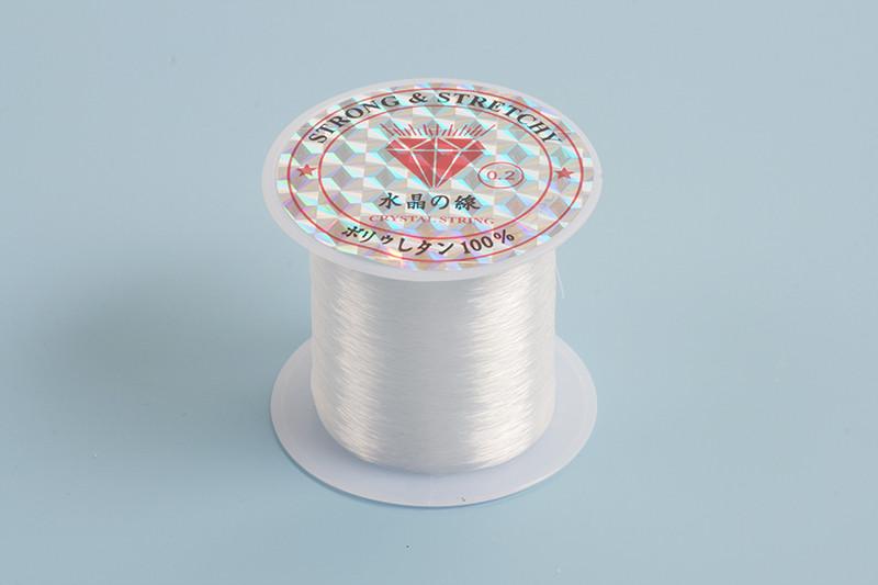 Nylon snøre, 0,2 mm, klar, ca. 25 m