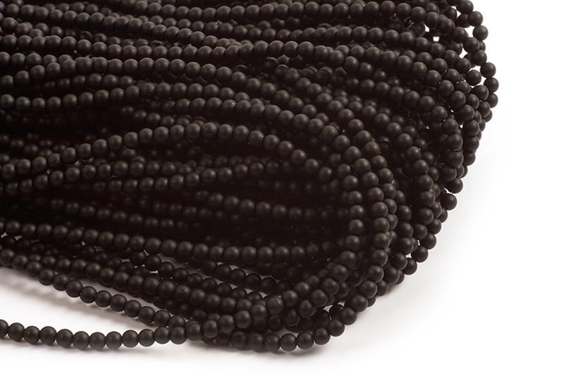 Blackstone, mat, sort, 4-5 mm, 1 streng