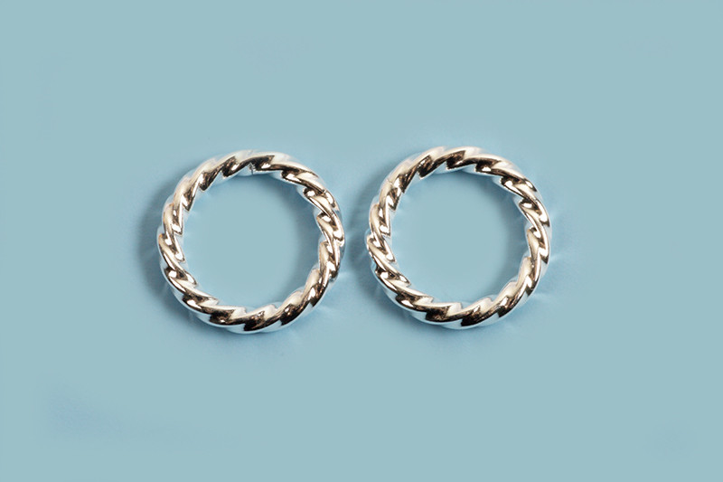 Ring, snoet, ca. 8x1,2 mm, 925s, 2 stk.