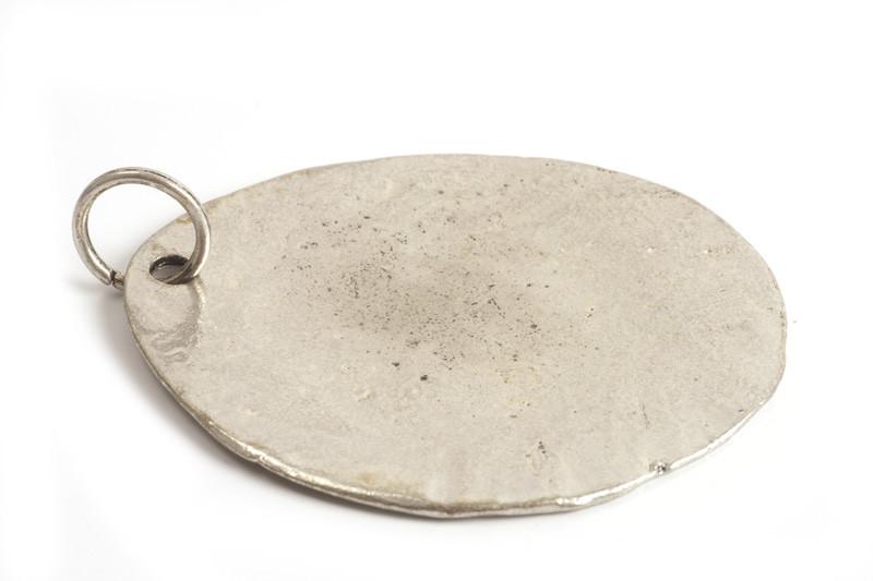 MEGA mønt, oval, 48x62 mm, antiksølv, 1 stk.