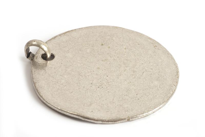 MEGA mønt, ca. 53x56 mm, antiksølv, 1 stk.