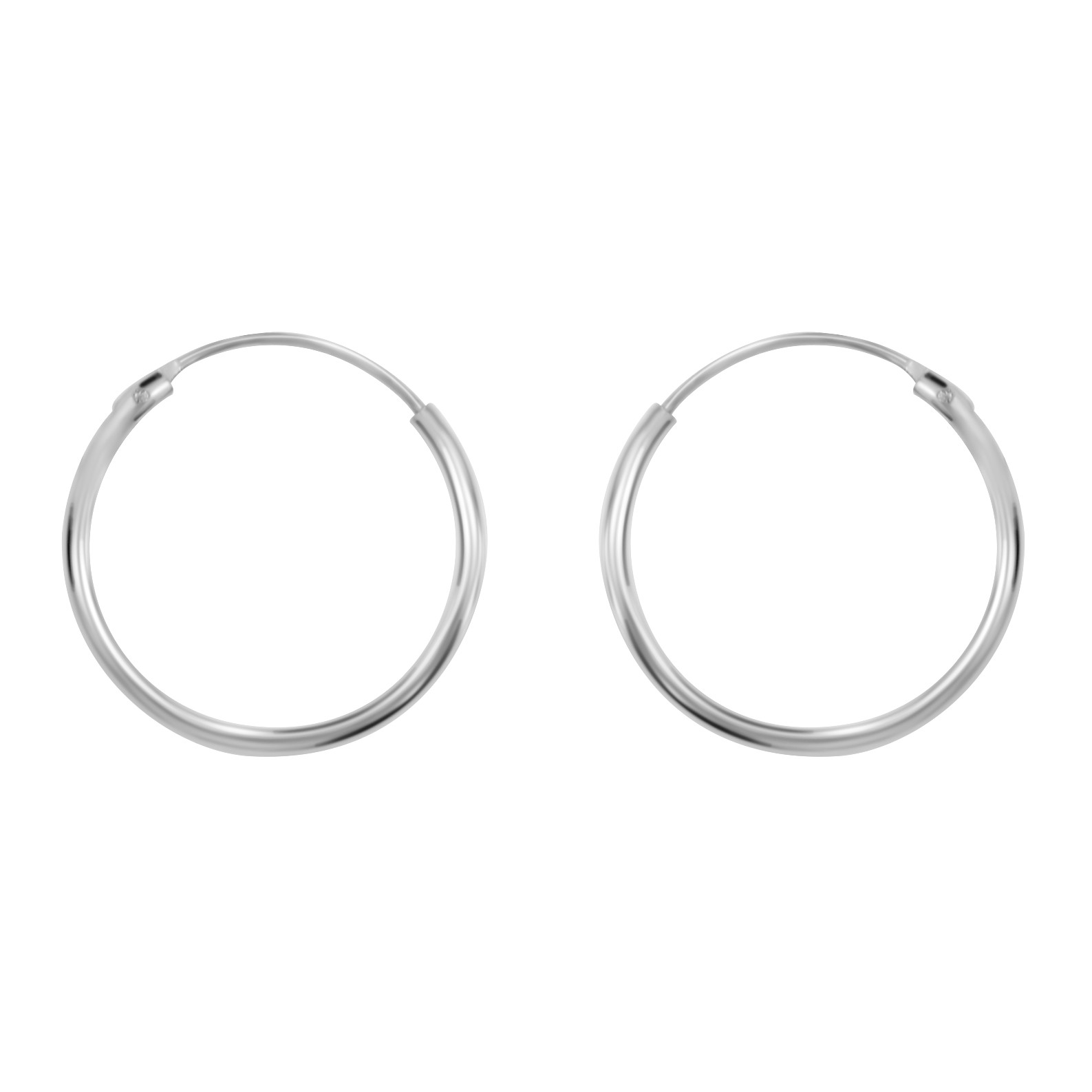 Medium Ear Hoop Silver