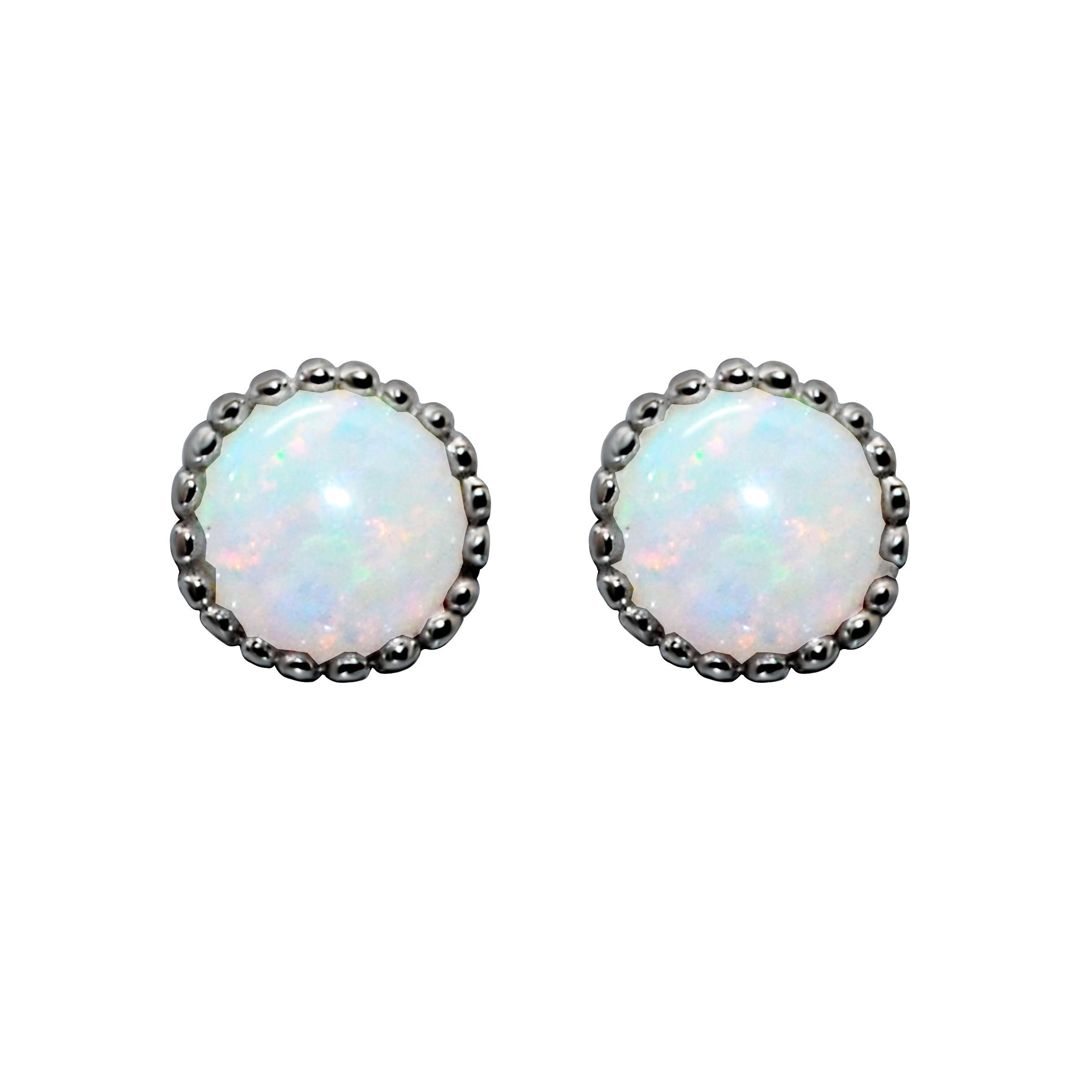 Opal Ear Studs Black