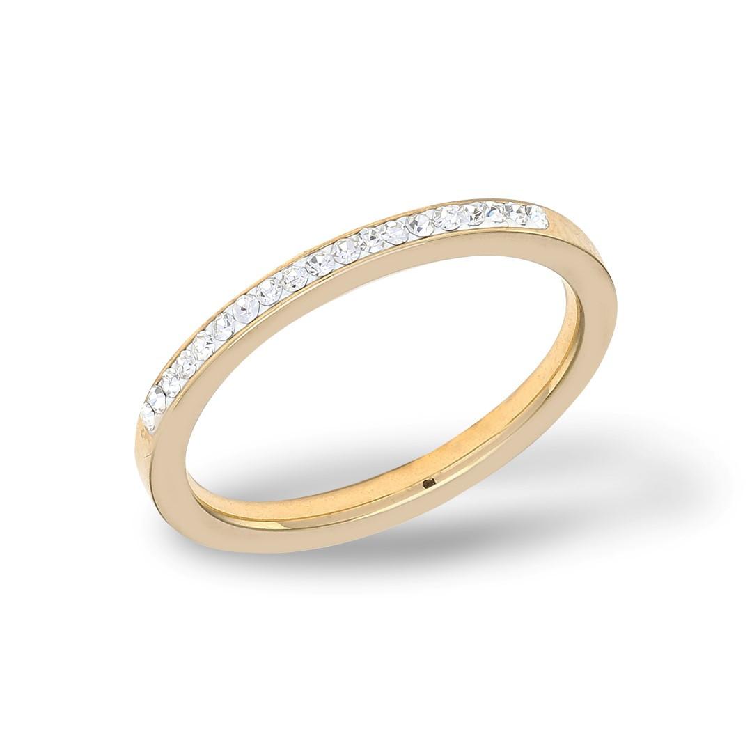 Plain Zirkonia Ring Gold