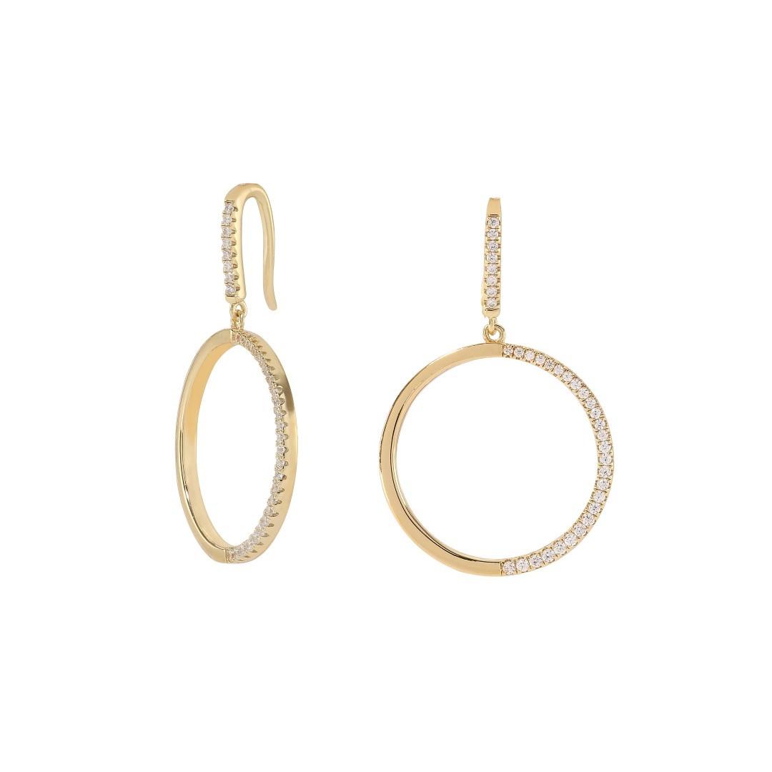 Zirkonia Earring Gold