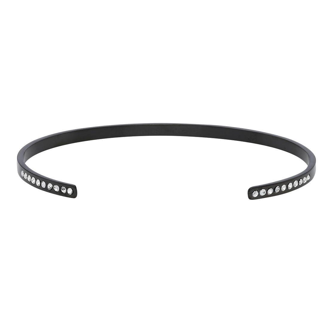 Zirkonia Bangle Mat Black