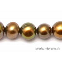 Ferskvands, rund, brun, ca. 4-7 mm, 1 streng