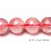 Rose Quartz, rund, 18 mm, 1 streng