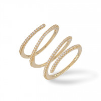 Triple Ring Zirkonia Gold