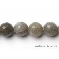 Labradorite, rund, facet, 12 mm, 1 streng