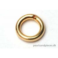 Ring, åben, 5x1 mm, forgyldt, ca. 1.440 stk.