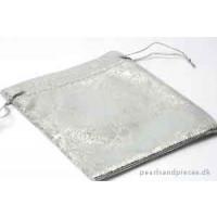 Smykkepose, sølv, ca. 120x100 mm, 10 stk.