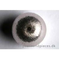 Perle, børstet, 18 mm, 830s, 1 stk.