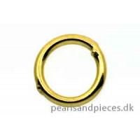 Ring, lukket, ca. 5x0,7 mm, forgyldt 925s, 10 stk.