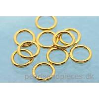 Ring, lukket, 7x1 mm, forgyldt 925s, 10 stk