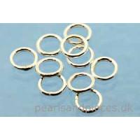 Ring/øsken, lukket, 925s, 6x0,9 mm, 10 stk.