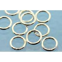 Ring/øsken, lukket, 7x1 mm, 925s, 10 stk.