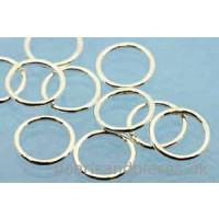 Ring/øsken, lukket, 10x1 mm, 925s, 10 stk.