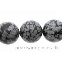 Snowflake Obsidian, rund, 16 mm, 1 streng
